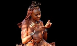 jolie Africaine & bébé