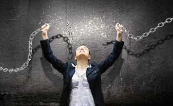 femme se libère