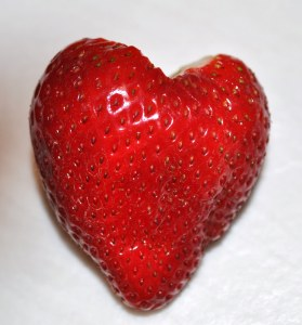 Heartshaped strawberry